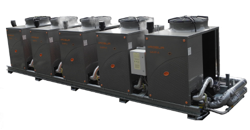 Multiple, linked heat pumps