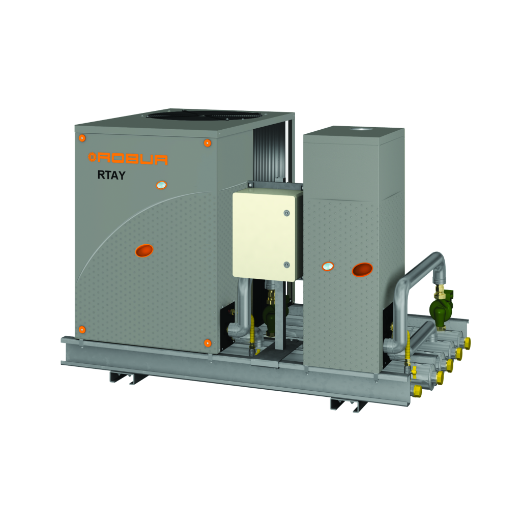 RTAY multiple linked system: heat pump with boiler