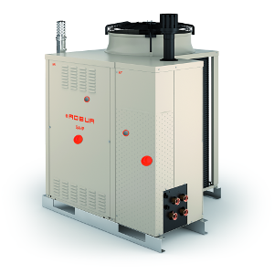 Air-source reversible gas absorption heat pump and condensing boiler