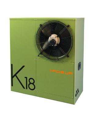 Robur K18 gas heat pump - front