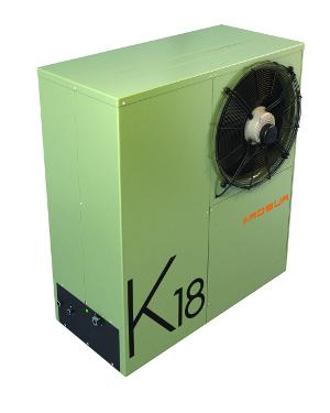 Robur K18 gas heat pump - left