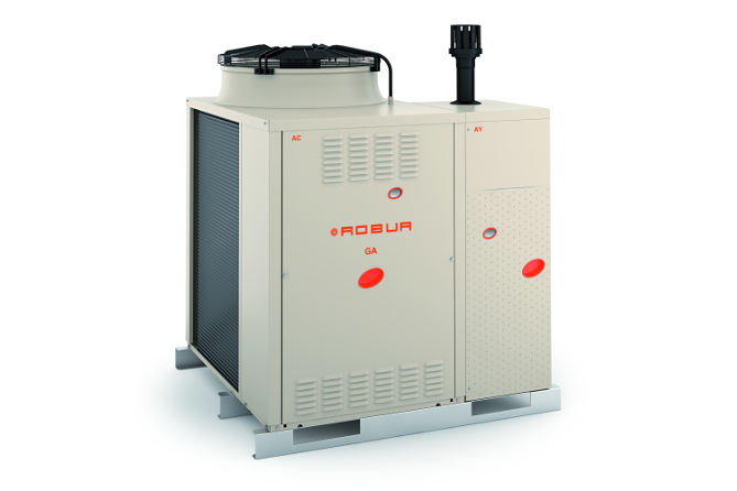 New giti range of trivalent gas powered packaged chillers for Gas hot air heating systems